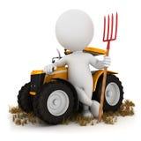 vit bonde för folk 3d Royaltyfri Fotografi