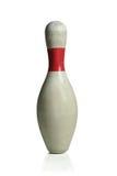 Vit bowlingPin Royaltyfri Foto