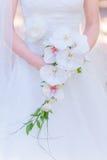 Vit bröllopbukett Arkivfoton