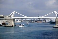 Vit bro, Barcelona, Spanien Royaltyfri Fotografi