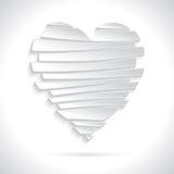 Vit bruten hjärta Arkivfoto