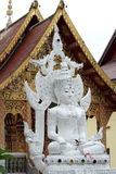 Vit Buddha Royaltyfri Bild