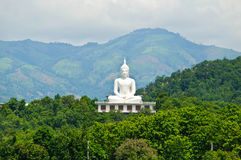 Vit buddha för bild staty Arkivbilder