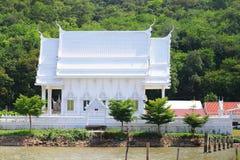 Vit buddha kyrka Royaltyfri Fotografi