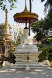 Vit buddha staty på Wat Si Rong Muang i Lampang Royaltyfri Fotografi