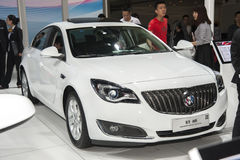 Vit Buick Regal gs bil Royaltyfria Bilder