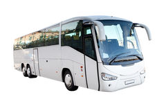 Vit buss Royaltyfria Bilder