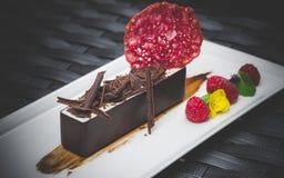 Vit chokladmousse Royaltyfria Bilder