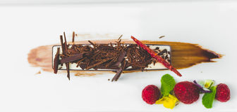 Vit chokladmousse Arkivfoto