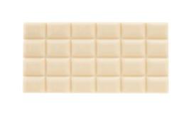 Vit chokladstång som isoleras på vit Arkivfoton