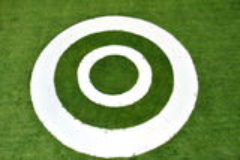 Vit cirkel. Arkivbild