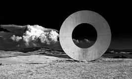 Vit cirkel Fotografering för Bildbyråer