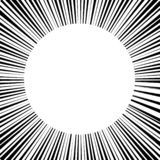 vit cirkel för abstrakt bakgrund som omges av linjer royaltyfri illustrationer