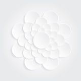 Vit cirkel för blomma Royaltyfria Bilder