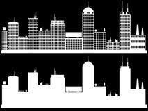 Vit cityscape Royaltyfri Illustrationer