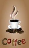 Vit coffekopp Royaltyfri Bild