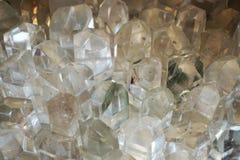 vit crystal mineralisk textur Arkivbild
