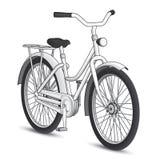 Vit cykel Royaltyfria Foton