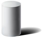 Vit cylinder 3D för vektor med skugga Royaltyfria Bilder