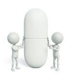 vit 3d med medicin stock illustrationer