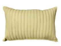 Vit dekorativ kudde Arkivbild