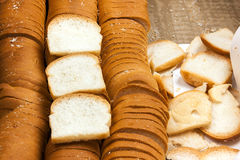 Vit eller SMÖRGÅS för bröd liten och nätt Arkivbild