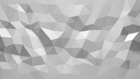 Vit färg för abstrakt Polygonal geometrisk bakgrund Arkivbild