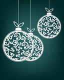 Vit färg för julbollar Royaltyfria Foton