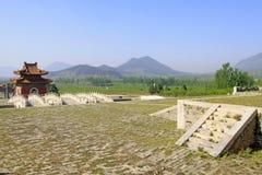 Vit för hålsten för marmor tre bro i de östliga kungliga gravvalven Arkivbilder