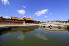 Vit för hålsten för marmor tre bro i de östliga kungliga gravvalven Arkivfoton