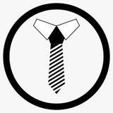 Vit för slipssymbolssvart Royaltyfria Bilder