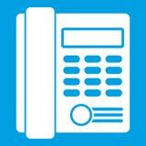 Vit för symbol för telefon för kontorsaffärstangentbord royaltyfri illustrationer