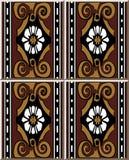 Vit f för arg vinranka för kurva för spiral för brunt för modell för keramisk tegelplatta retro stock illustrationer