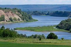 Vit flod Arkivfoton
