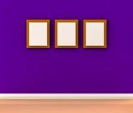 Vit fotoram på väggen Royaltyfri Bild