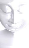Vit framsida av Buddha Royaltyfri Bild