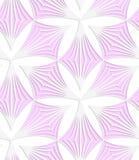 Vit färgade pappers- rosa pointy trefoils Arkivbild