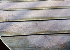 Vit frost eller is på en tabellöverkant Royaltyfri Fotografi