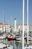 Vit fyr av La Rochelle, maritima Charente (Frankrike) Arkivbilder