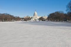 vit galleria USA för byggnadsdc-hus Arkivbilder