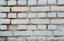 Vit gammal bakgrund för textur för tegelstenvägg Abstrakt textur för formgivare Royaltyfri Foto