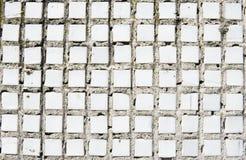 Vit gammal tweathered tegelplattabakgrundstextur fångade med ett solljus royaltyfri bild