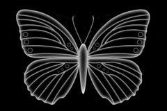 Vit genomskinlig fjäril Royaltyfri Bild