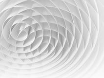 Vit genomskurna 3d spiral, abstrakt digital illustration Royaltyfri Foto