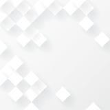 Vit geometrisk bakgrundsvektor Royaltyfria Bilder