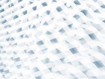 Vit geometrisk modell, dubbel exponering 3d Arkivbilder