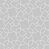 Vit geometriskt tryck för grå färger och seamless modell
