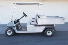 Vit golfbil Fotografering för Bildbyråer