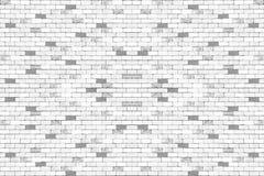 Vit grå tegelstenvägg för bakgrund seamless modell Royaltyfria Foton