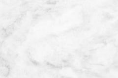 Vit (grå) marmortextur, detaljerad struktur av marmor i naturligt mönstrat för bakgrund och design Royaltyfria Bilder